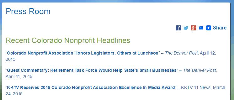 Colorado Nonprofits Press