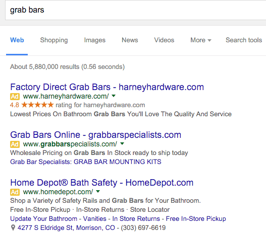 Grab Bars search