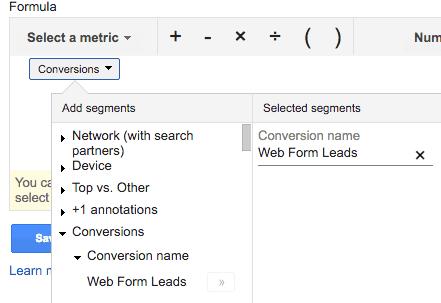 selecting conversion segment
