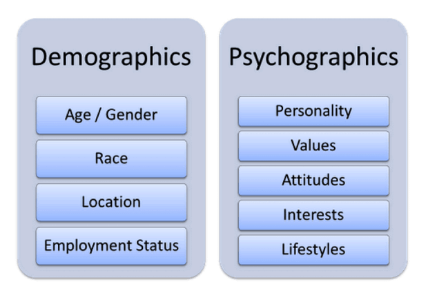 explanation of demographics and psychographics