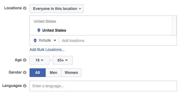 facebook demographic targeting