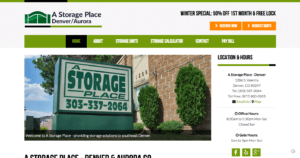 a storage place landing page