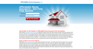 affordable home insurance landing page