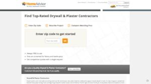 home advisor drywall repair landing page