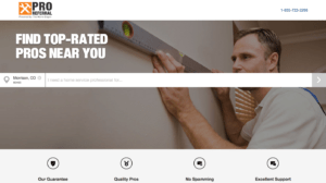 pro referral by home depot drywall repair landing page